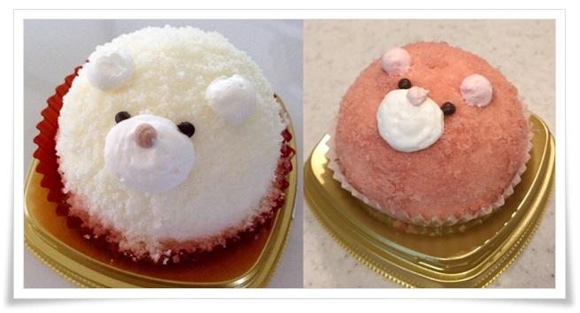 セブンイレブンスイーツのかわいいケーキ!「ことり」やアザラシetc白いくまさん、いちごのくまさんムースケーキ