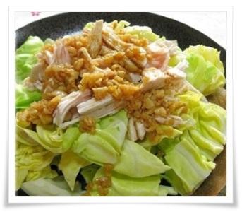 セブンイレブンのサラダチキン(ハーブ)!簡単アレンジレシピで実食キャベツ