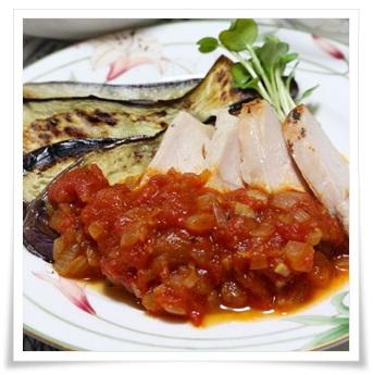 セブンイレブンのサラダチキン(ハーブ)!簡単アレンジレシピで実食トマトソース