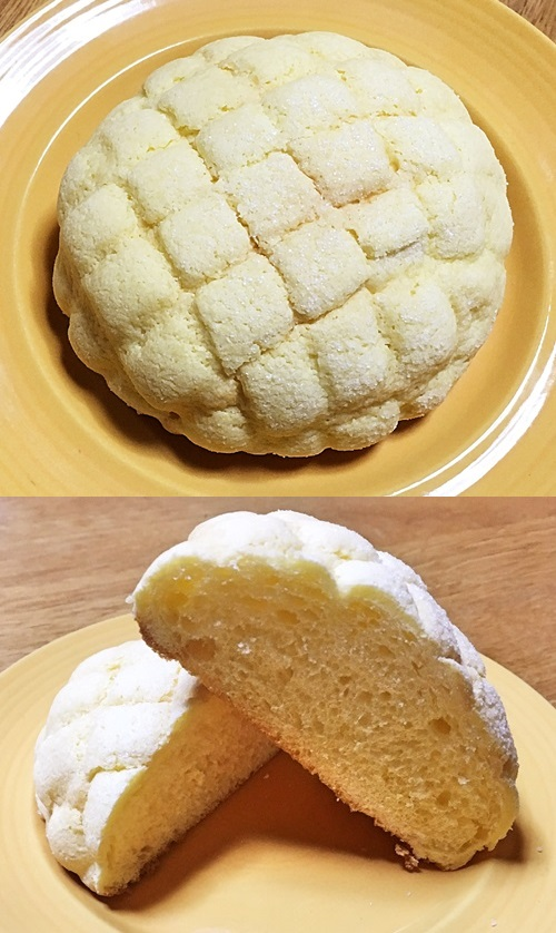 コンビニ4社のメロンパン比較!カロリーも考慮した人気ランキングローソン ブルターニュ産発酵バターを使った サックリメロンパン1