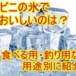 コンビニの氷でおいしいのは?食べる用・釣り用など用途別に紹介!1