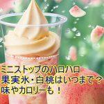 ミニストップのハロハロ果実氷・白桃はいつまで?味やカロリーも!1