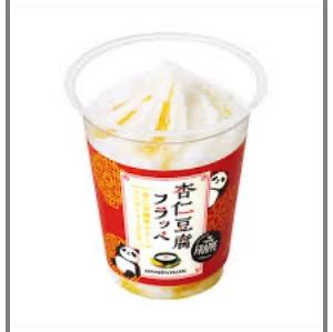 杏仁豆腐フラッペ(マンゴーソース入り)