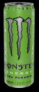 モンスターエナジーにも1本(355ml)あたり120ml以上のカフェインが含まれています。