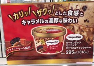ファミマ限定!ハーゲンダッツ・キャラメルナッツクッキーの値段は?(4)