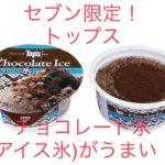 セブン限定!トップスのチョコレート氷(アイス氷)がうまい!値段は?