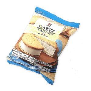 セブンプレミアムのバニラ香るクッキーサンドが美味しい!カロリーも
